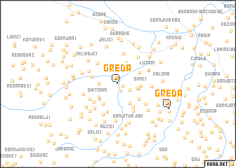 map of Greda