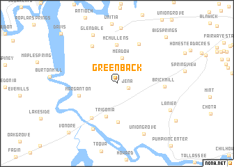 map of Greenback