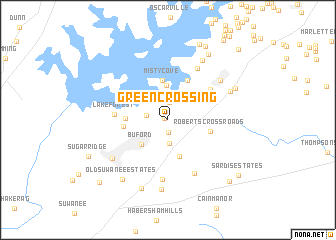 map of Green Crossing