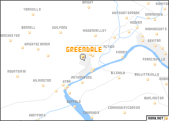 map of Greendale