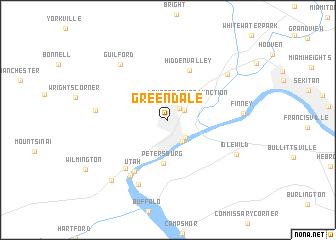 map of Greendale