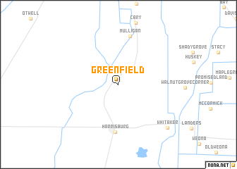 map of Greenfield