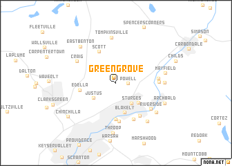 map of Green Grove