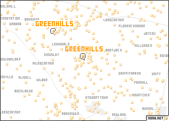 map of Greenhills