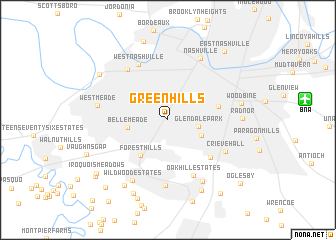 map of Green Hills