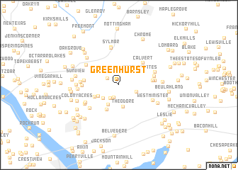 map of Greenhurst