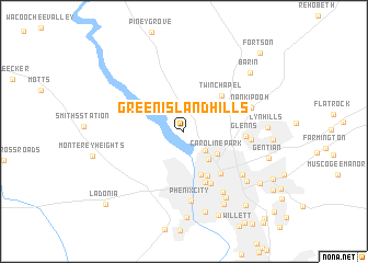 map of Green Island Hills