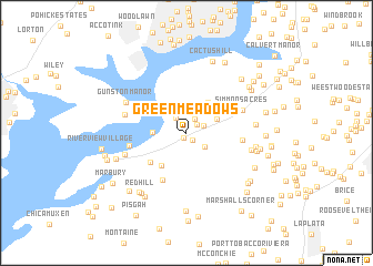 map of Green Meadows