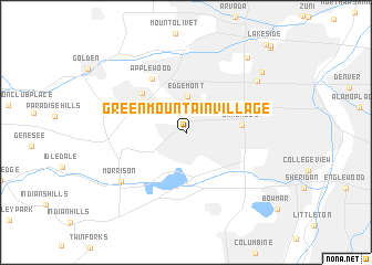 Green Mountain Village (United States - USA) map - nona.net