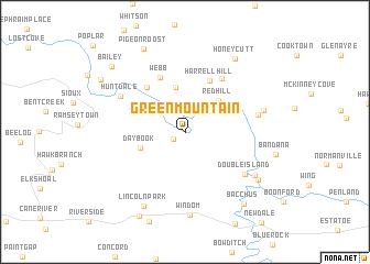 Green Mountain United States USA Map Nonanet - North carolina us map