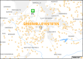 map of Green Valley Estates