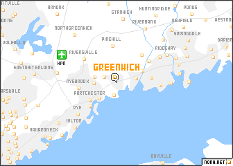 Greenwich United States USA Map Nonanet - Greenwich connecticut on a us map