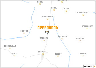 map of Greenwood