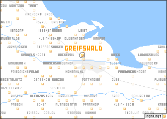 map of Greifswald