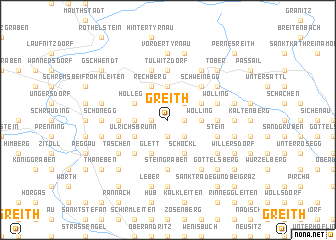 map of Greith