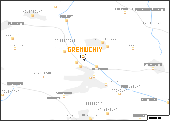 map of Gremuchiy