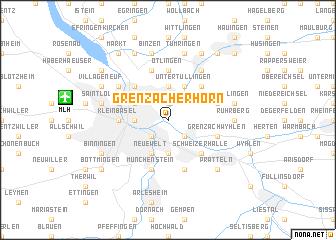 map of Grenzacher Horn