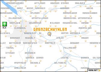 map of Grenzach-Wyhlen