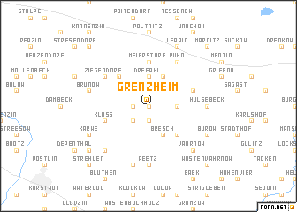 map of Grenzheim