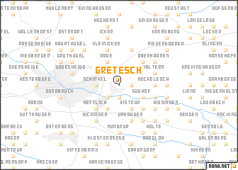 map of Gretesch