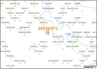 map of Greudnitz
