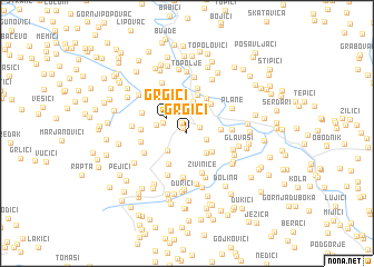 map of Grgići