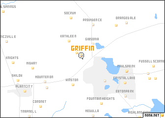 map of Griffin