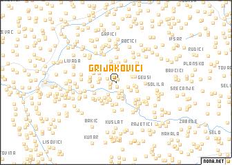 map of Grijakovići