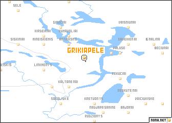 map of Grikiapelė