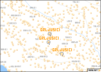 map of Grljušići