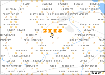 map of Grochowa