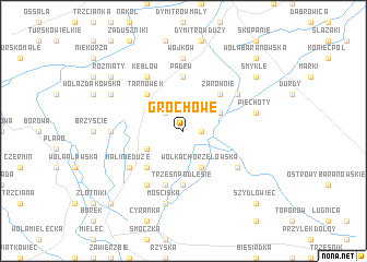 map of Grochowe