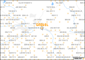 map of Grödel