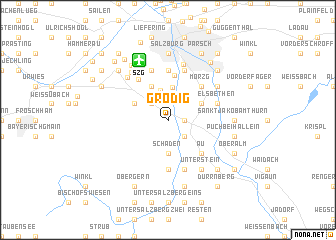 map of Grödig