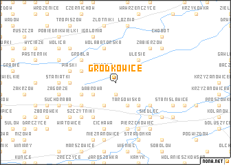 map of Grodkowice