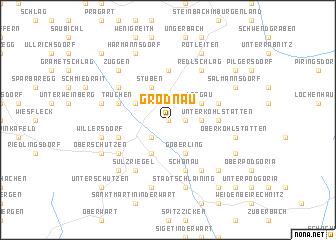 map of Grodnau