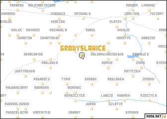 map of Grodysławice