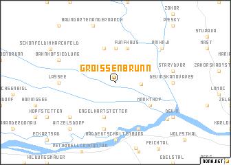 map of Groißenbrunn