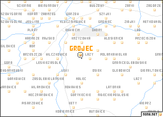 map of Grójec
