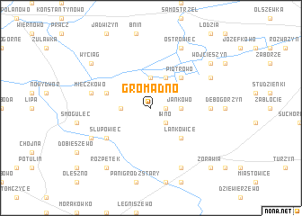 map of Gromadno