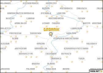 map of Gromnik