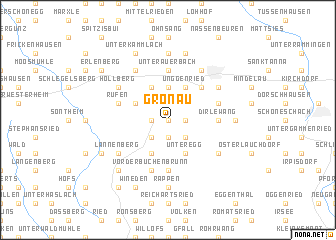 map of Gronau