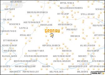 map of Gronau
