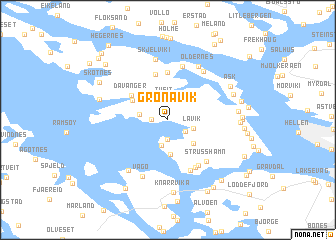map of Grønavik