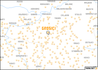map of Grošići