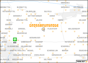 map of Groß Brunsrode