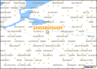 map of Groß Bünsdorf