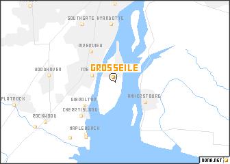 Grosse Ile (United States   USA) map   nona.net