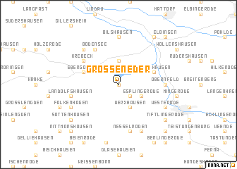 map of Großeneder