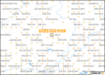 map of Großgrimma